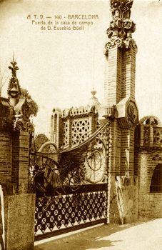 A-Finca Güell Puerta Dragón-Postal ant